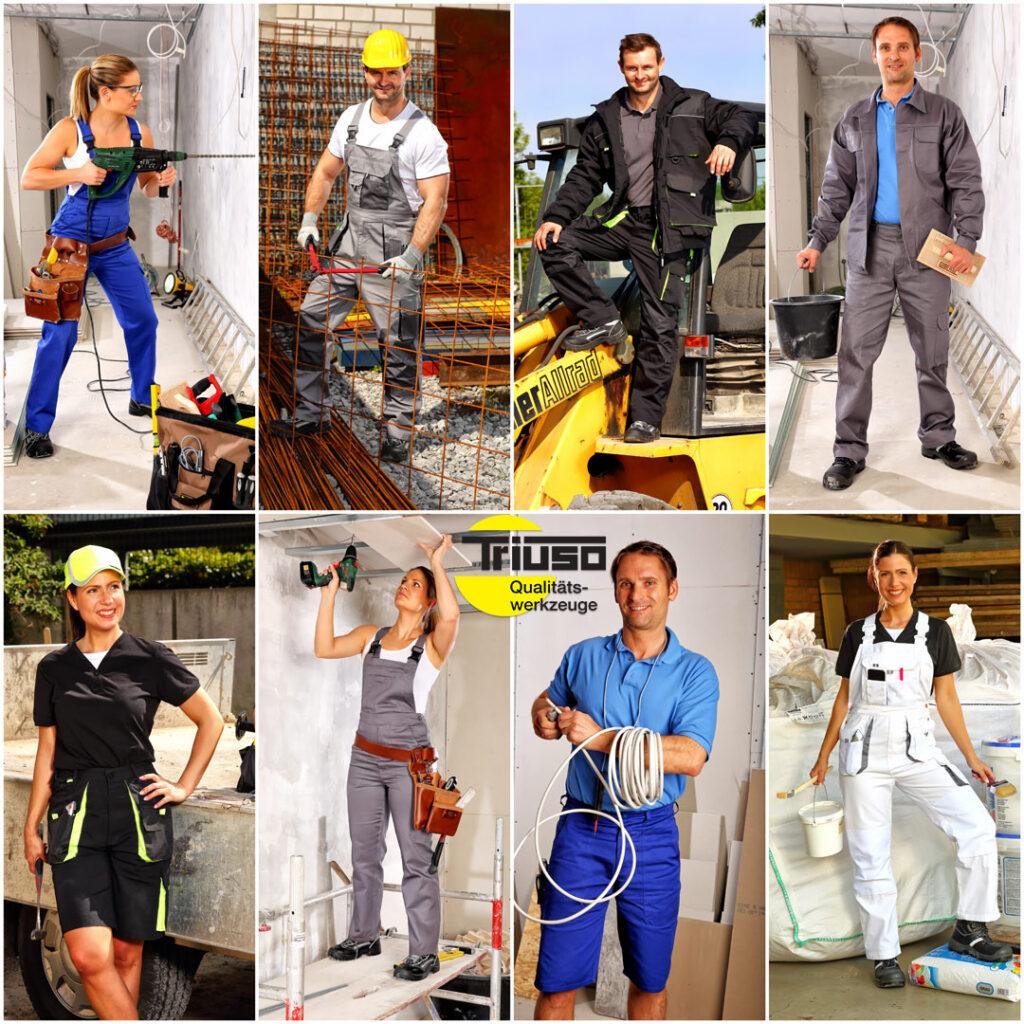 Fotoaufnahmen für Handwerkerkatalog Arbeitsbekleidung
