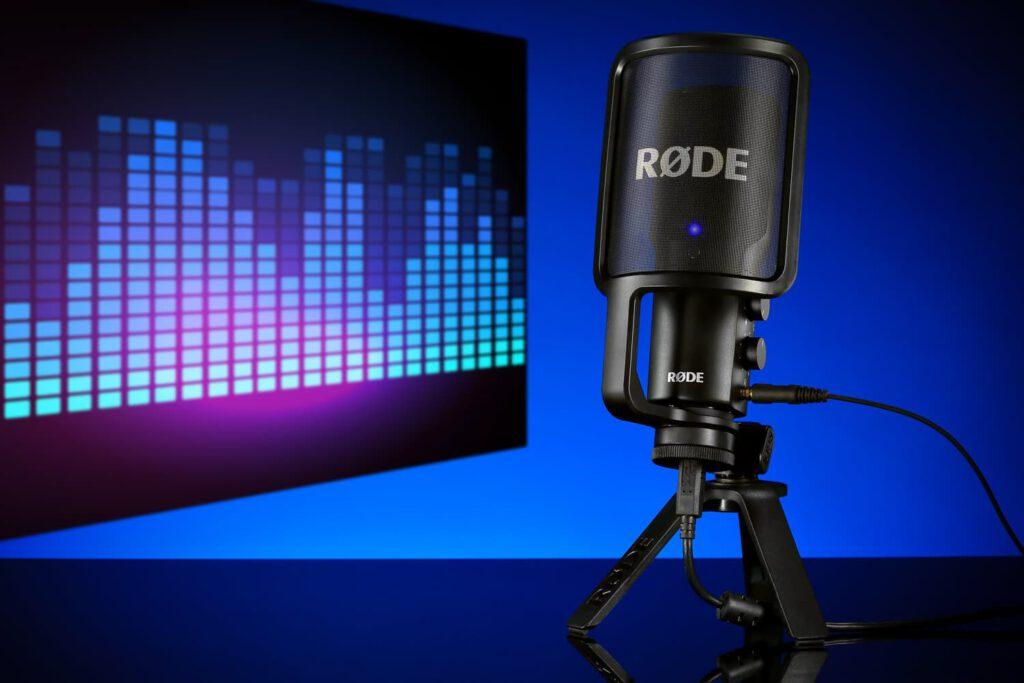 Sachaufnahme von Studiomikrofon mit Bildbearbeitung