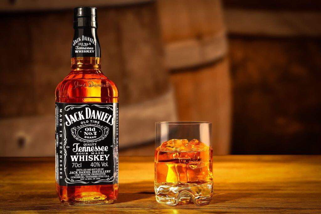 Whiskeyaufnahme Jack Daniels