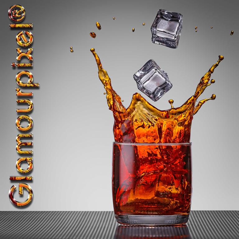 Produktfotografie Whiskey on the rocks Werbefotografie