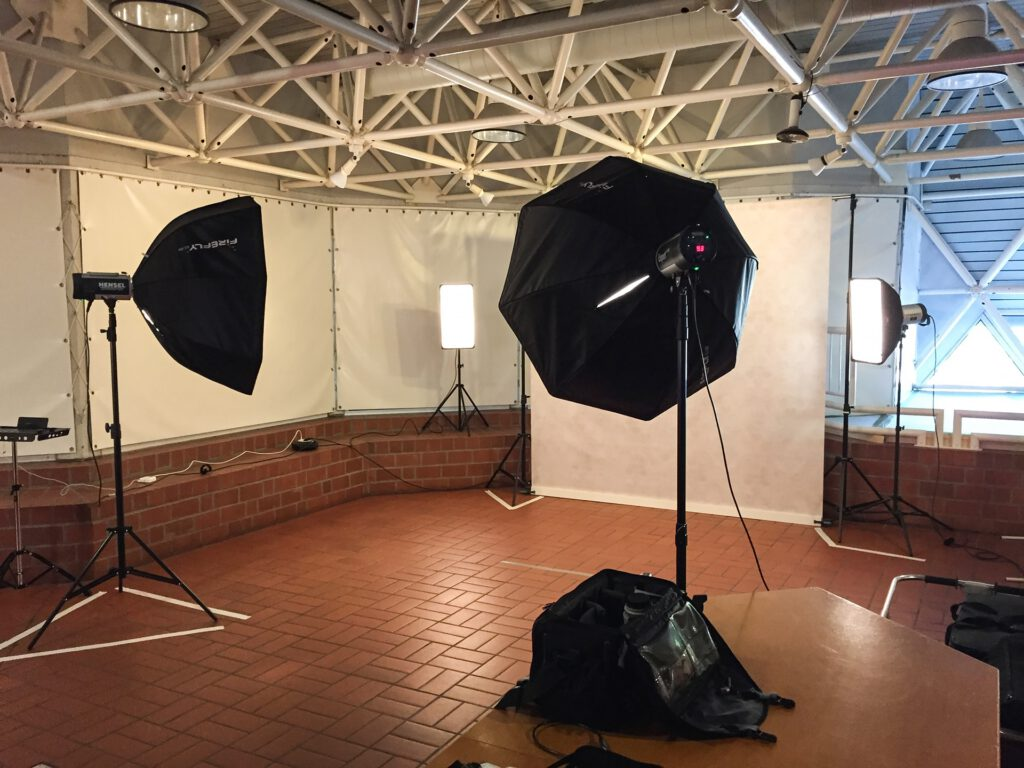 Mobiles Fotostudio für Eventfotografie