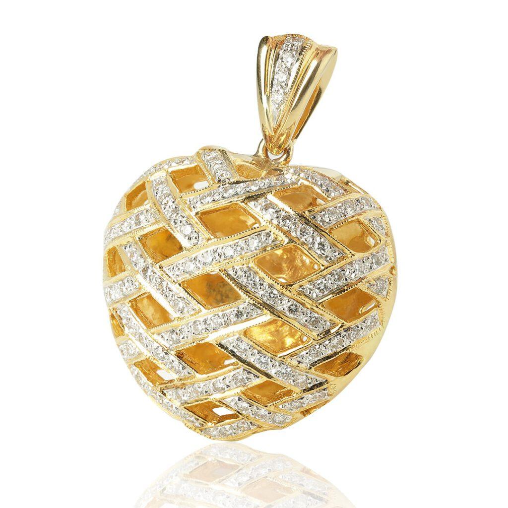 Schmuckfoto Kettenanhänger in Herzform aus Gold