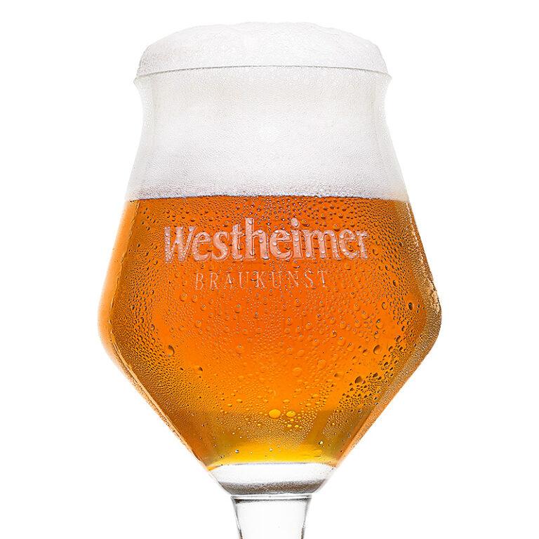 Bierfoto auf weiß mit Krone
