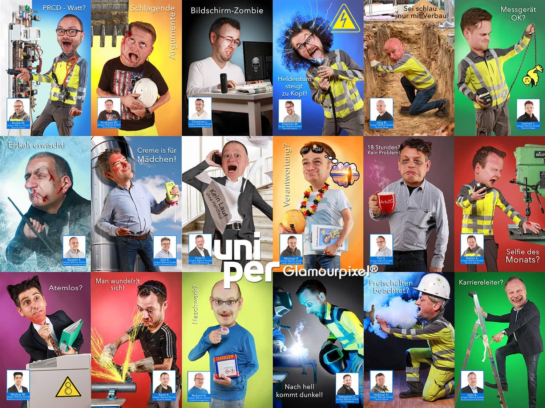 Kalenderfotos zur Unfallverhütung für Uniper Wärme