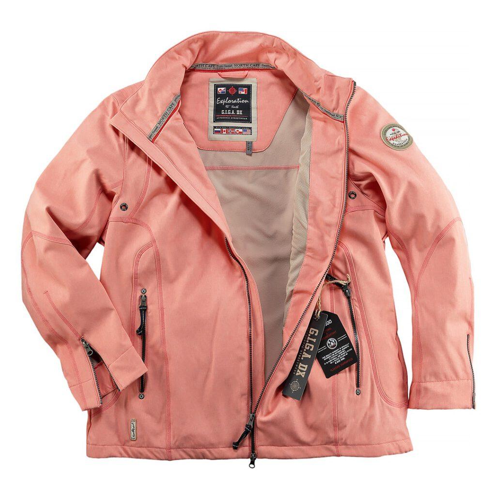 Fotos einer flache hin gelegten Jacke