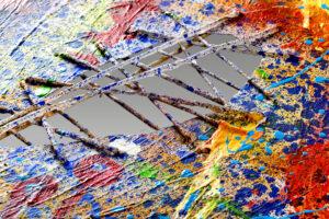 Makroaufnahme von Kunstgemälde