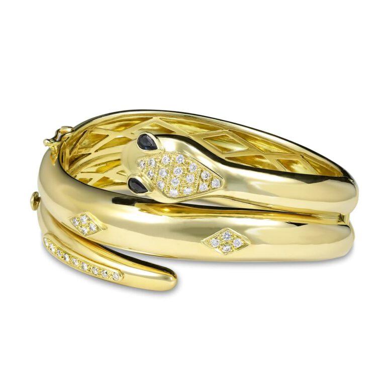 Schlangendesign Armreif gold