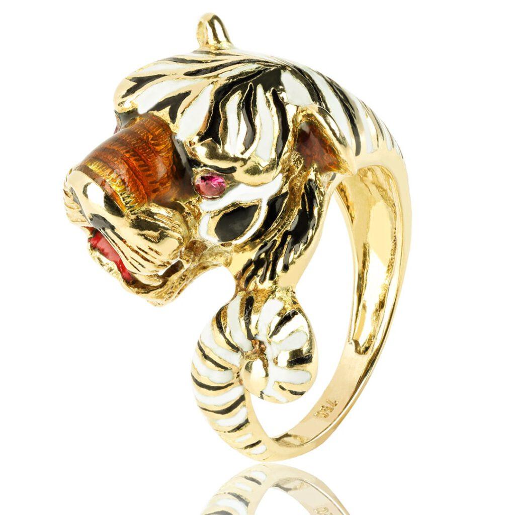 Goldener Tigerring für Damen