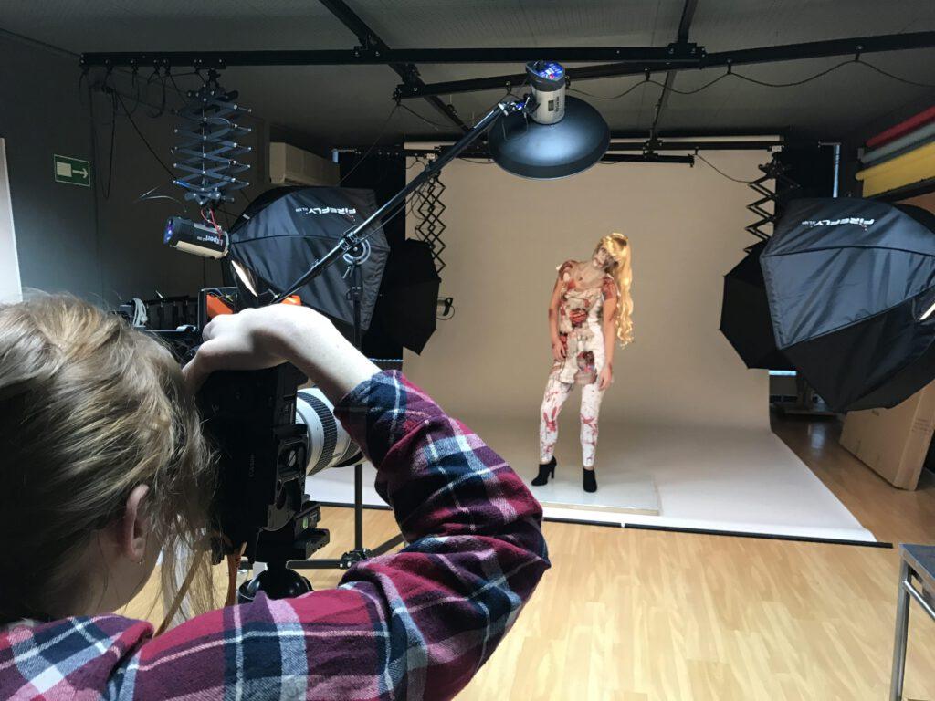 Fotoshooting mit Model