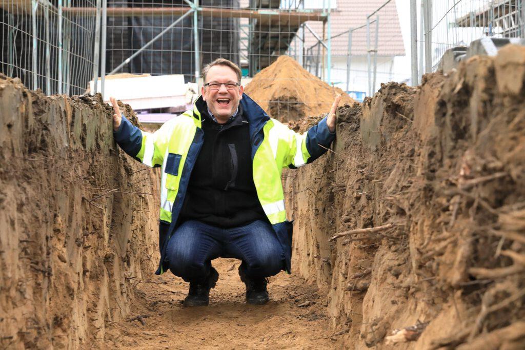 Arbeitsschutzbeauftragter in Baugrube