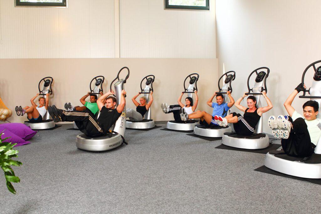 Power Plate Übungen im Fitnesscenter