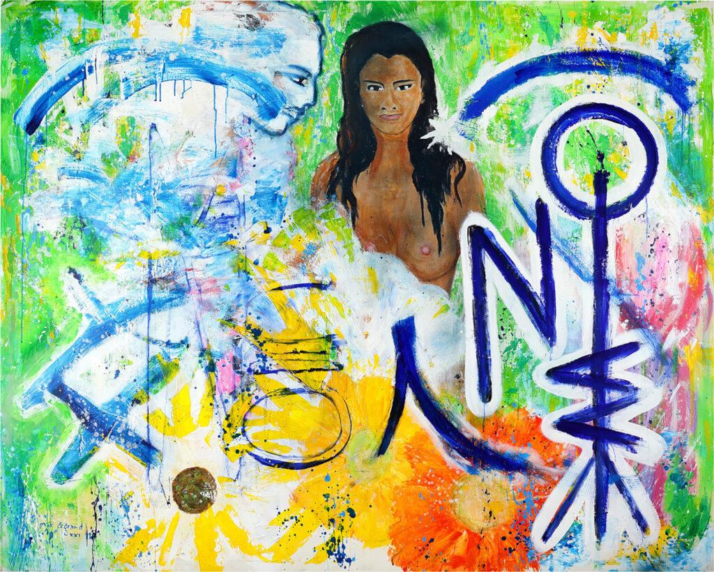 Foto einer Malerei aus der abstrakten Kunst