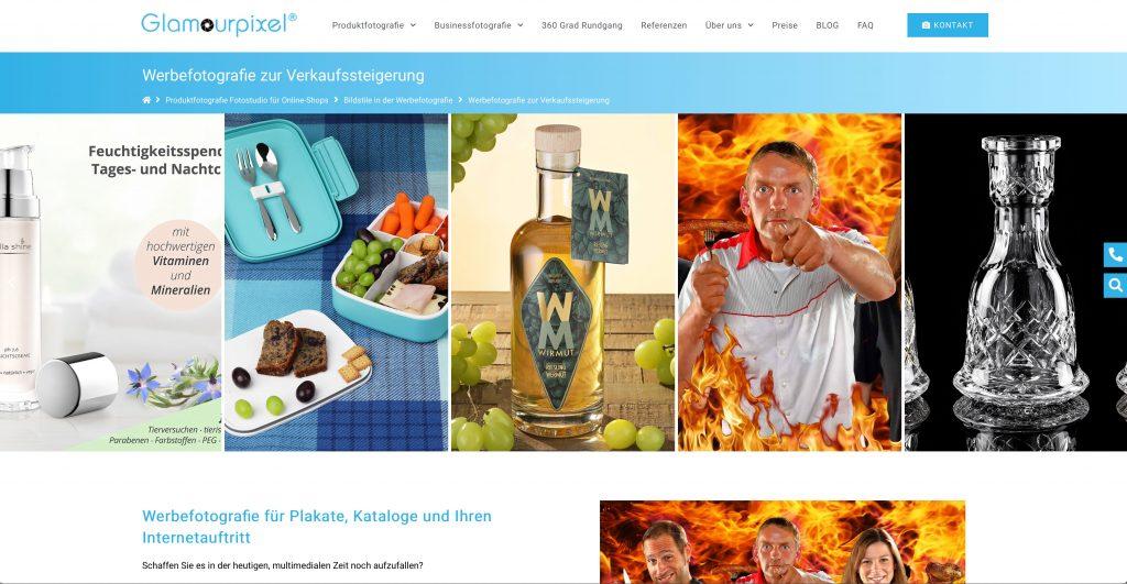 Screenshot Fotografenwebseite